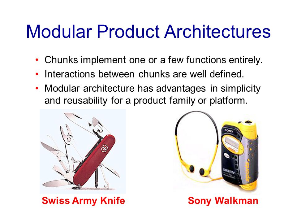 Modular Product Architectures