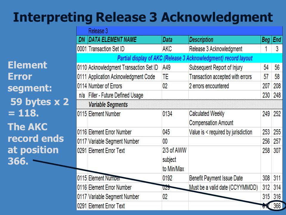 Interpreting Release 3 Acknowledgment