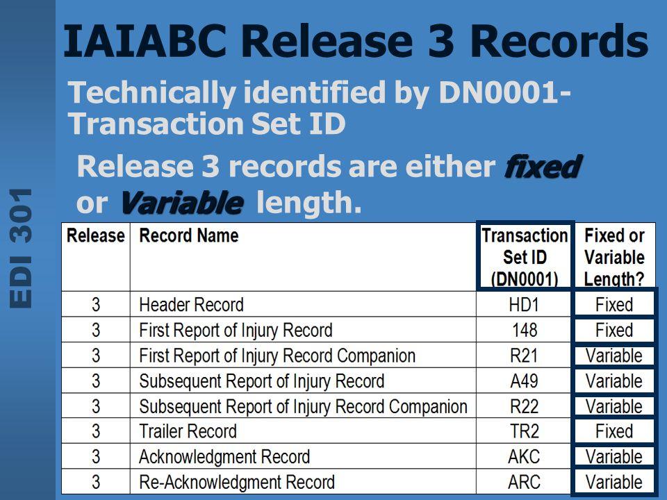 IAIABC Release 3 Records