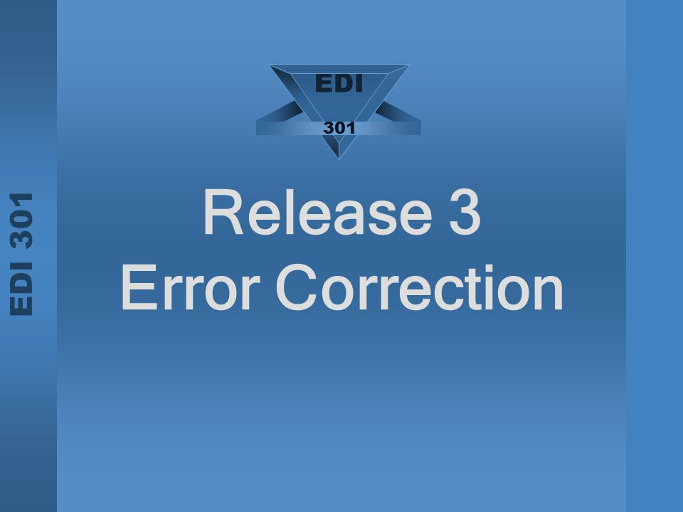 Release 3 Error Correction