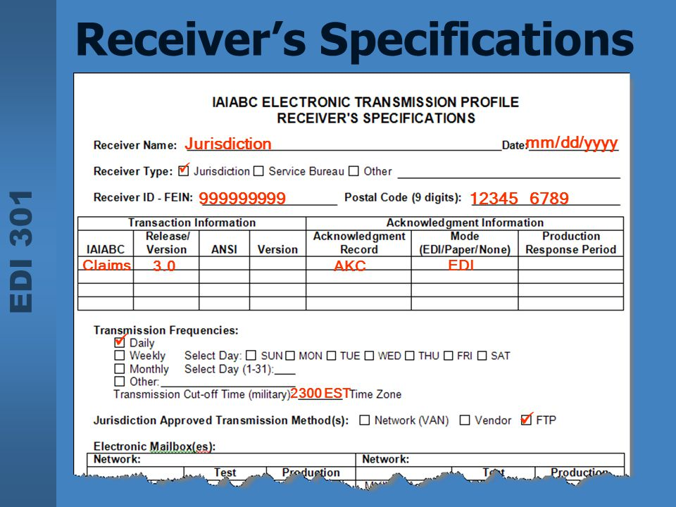 Receiver's Specifications