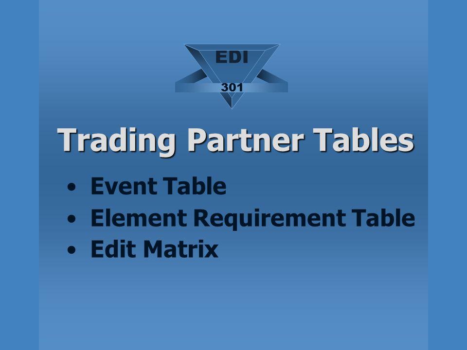 Trading Partner Tables