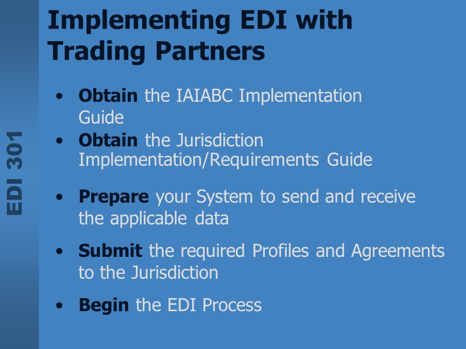 Implementing EDI with Trading Partners