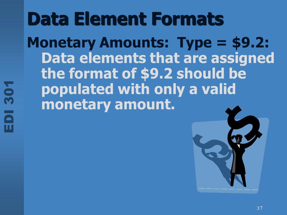 Data Element Formats