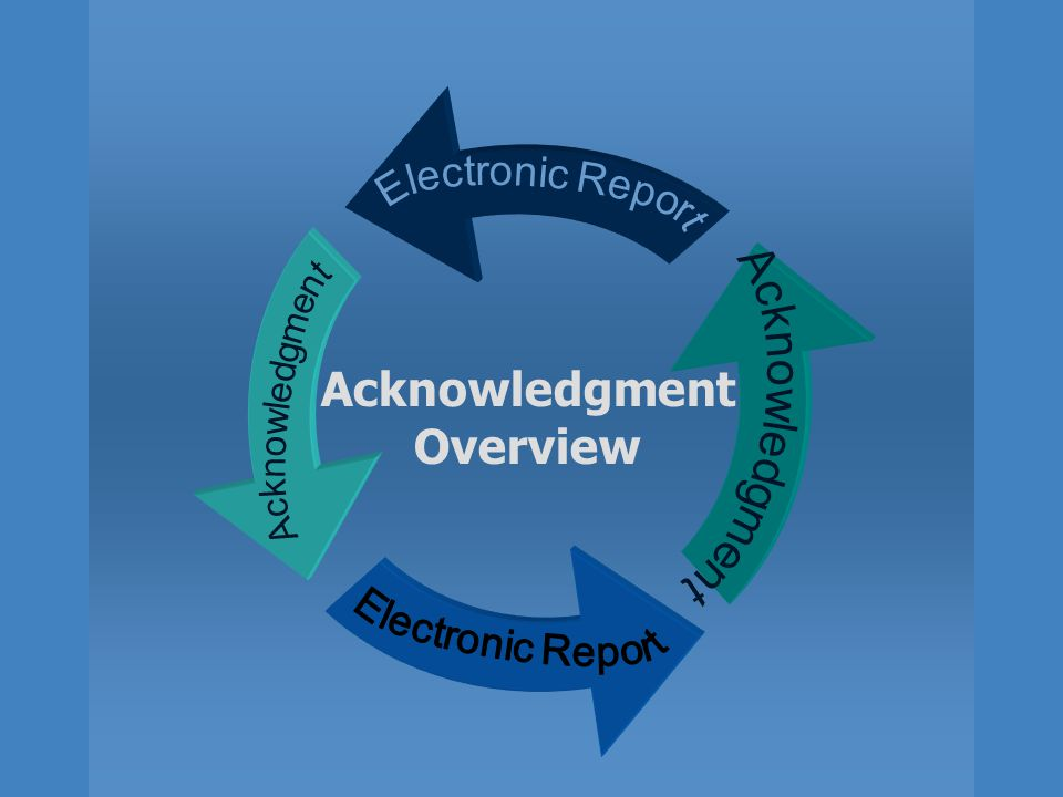 Acknowledgment Overview