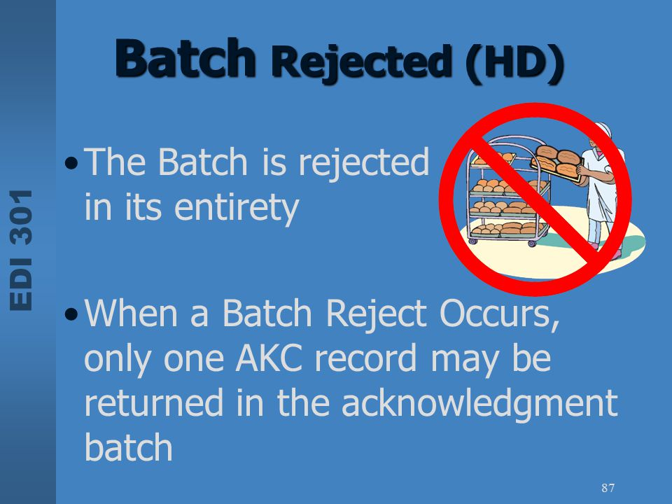 Batch Rejected (HD) The Batch is rejected in its entirety