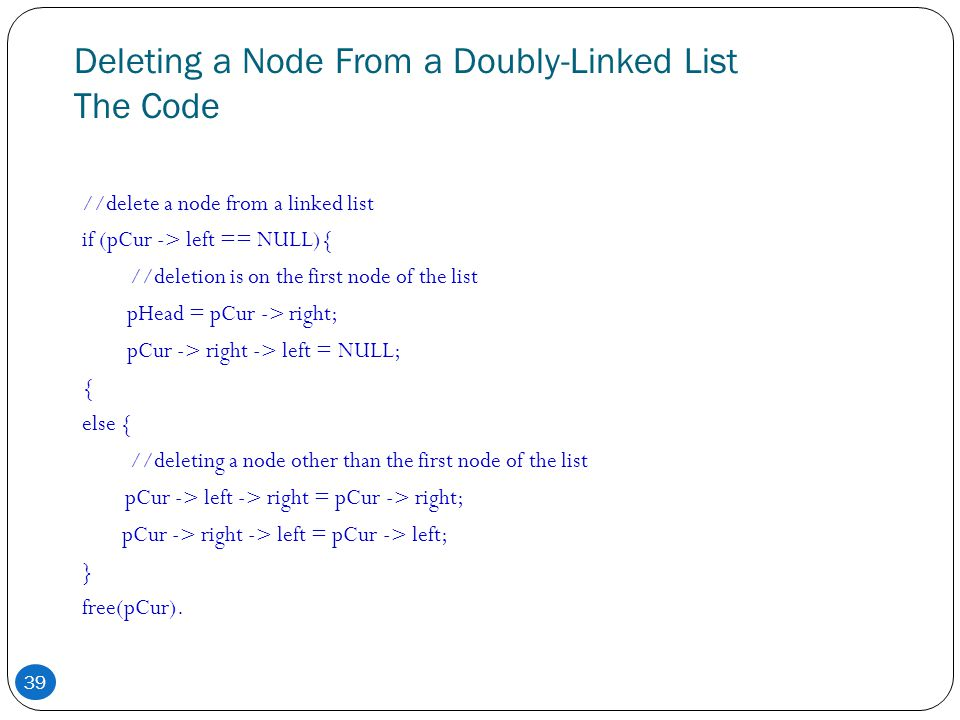 Deleting a Node From a Doubly-Linked List The Code