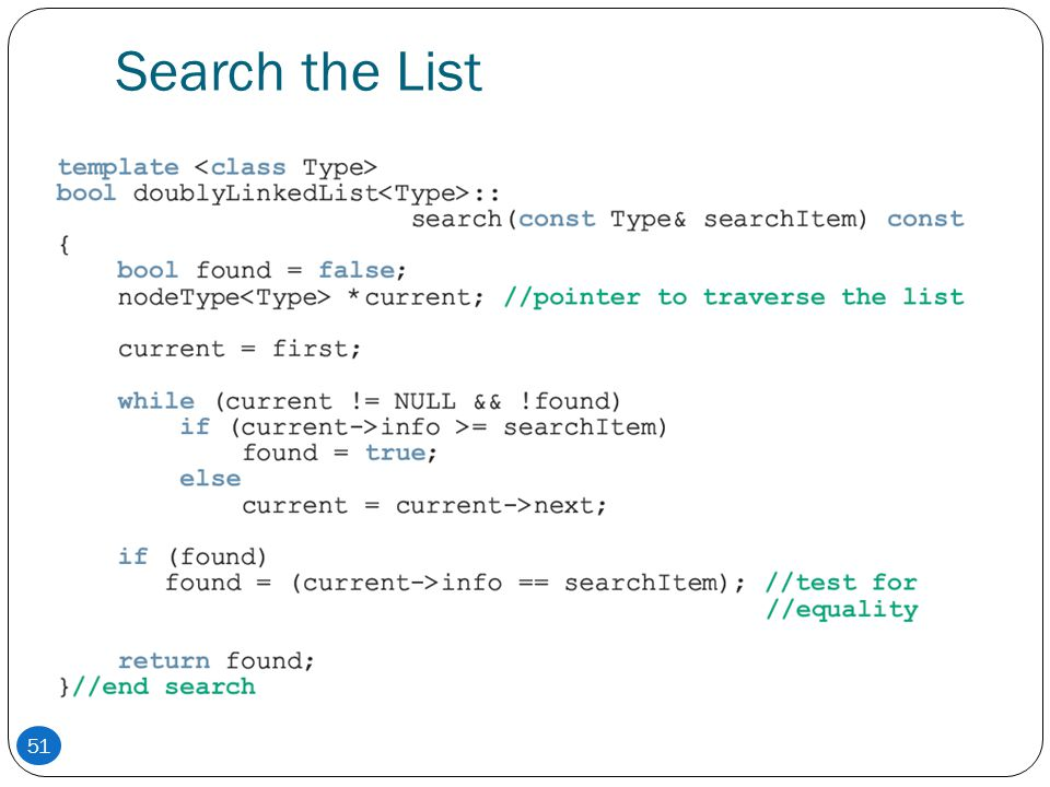 Search the List