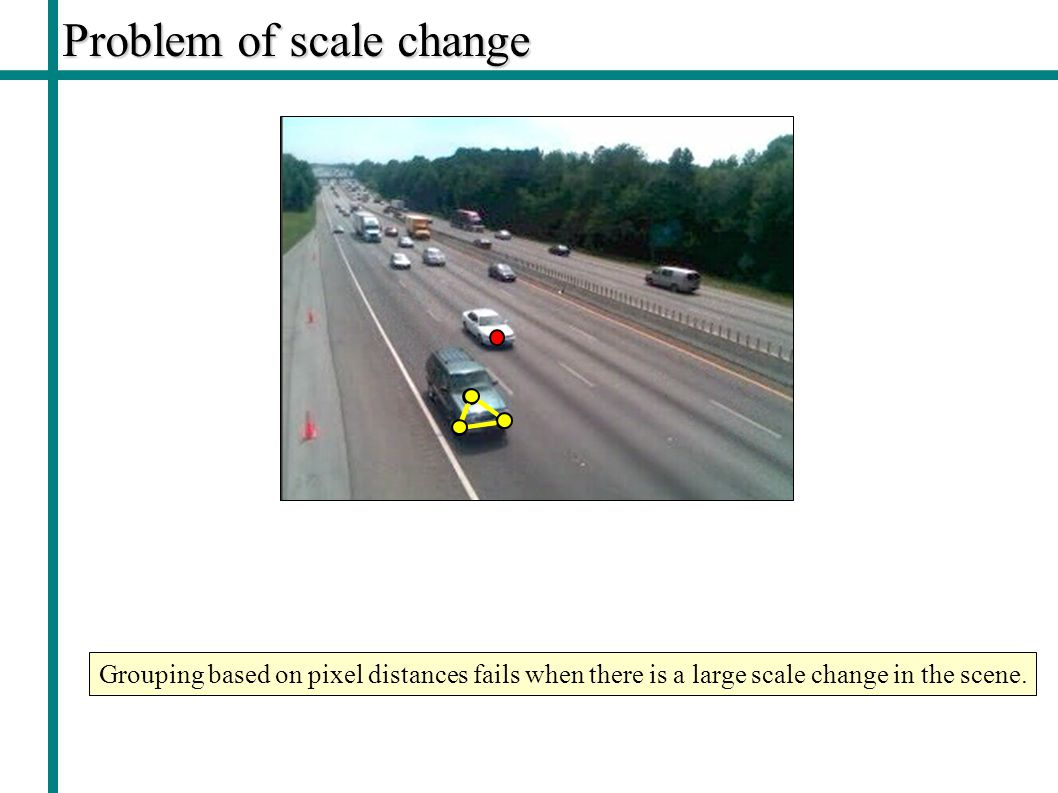 Problem of scale change