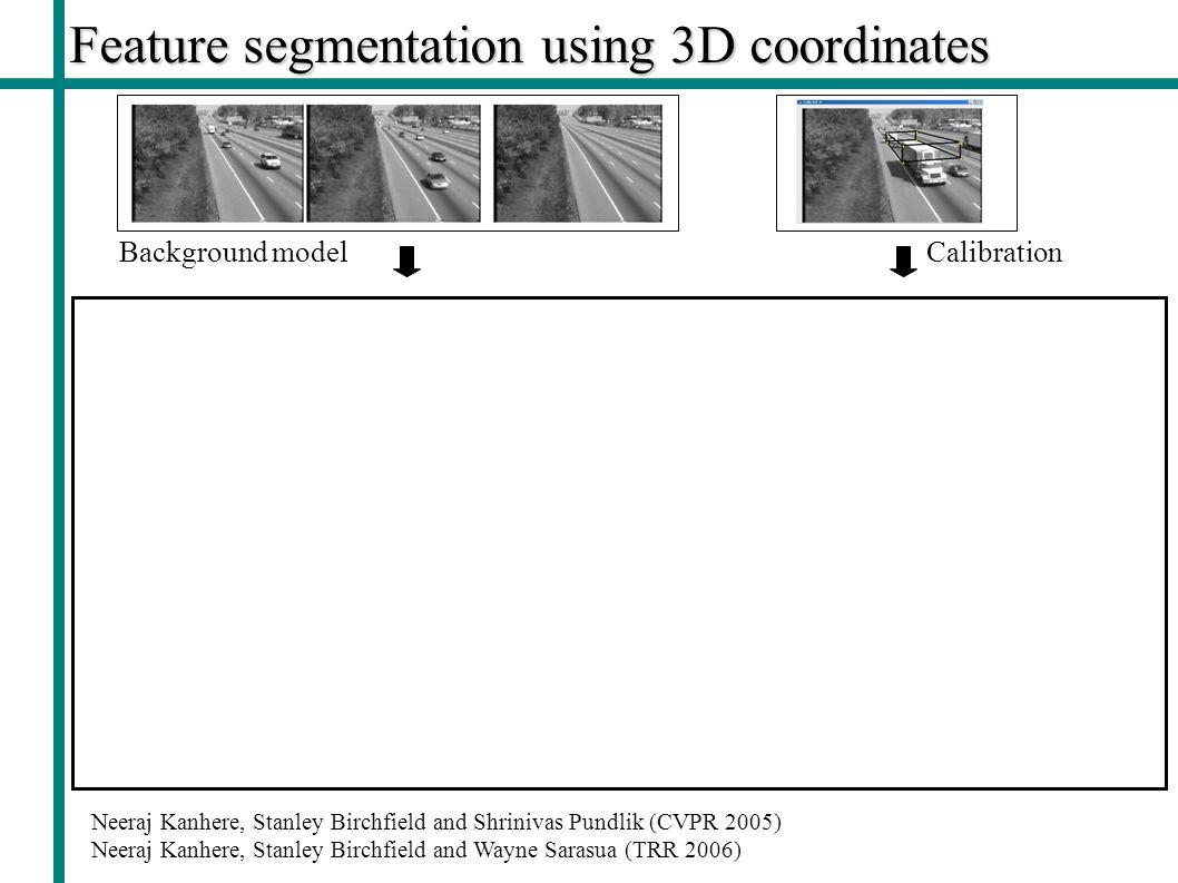 Feature segmentation using 3D coordinates