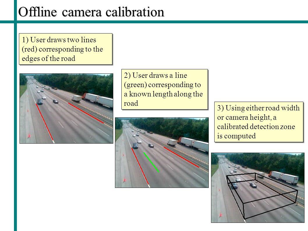 Offline camera calibration