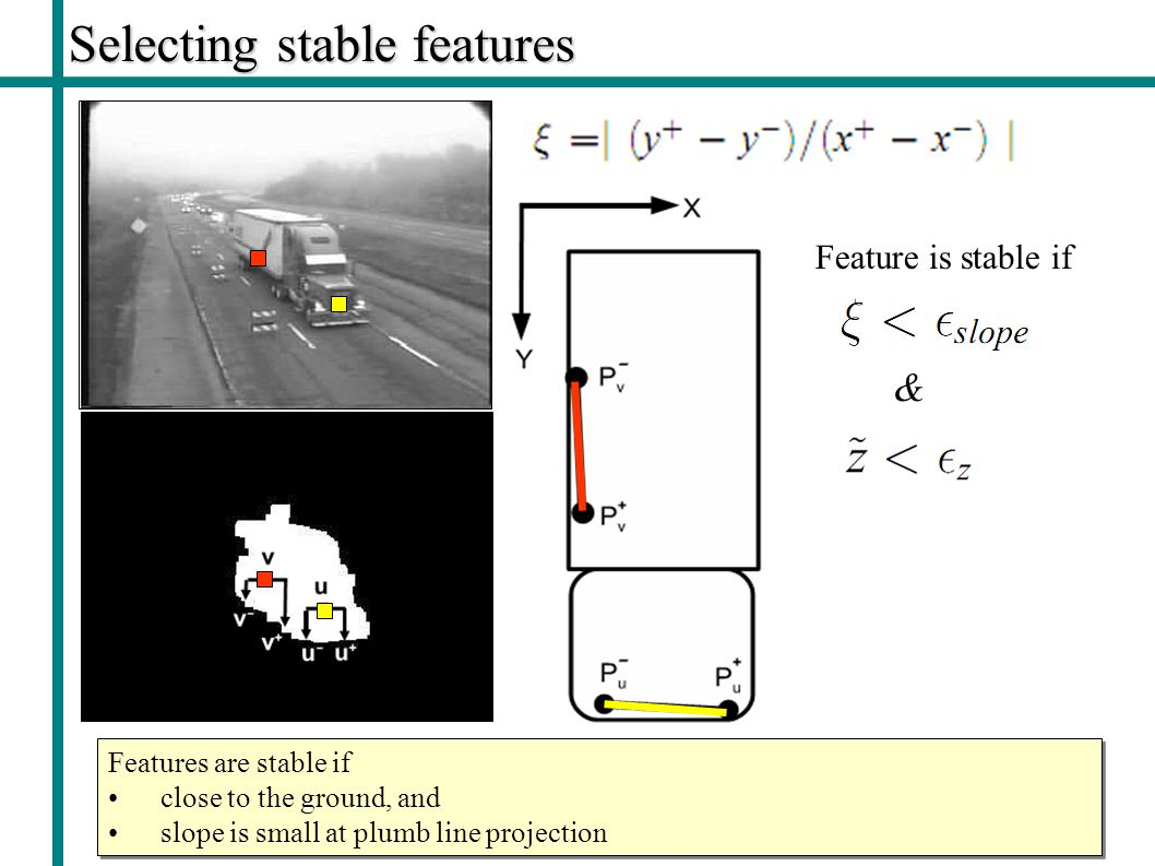 Selecting stable features