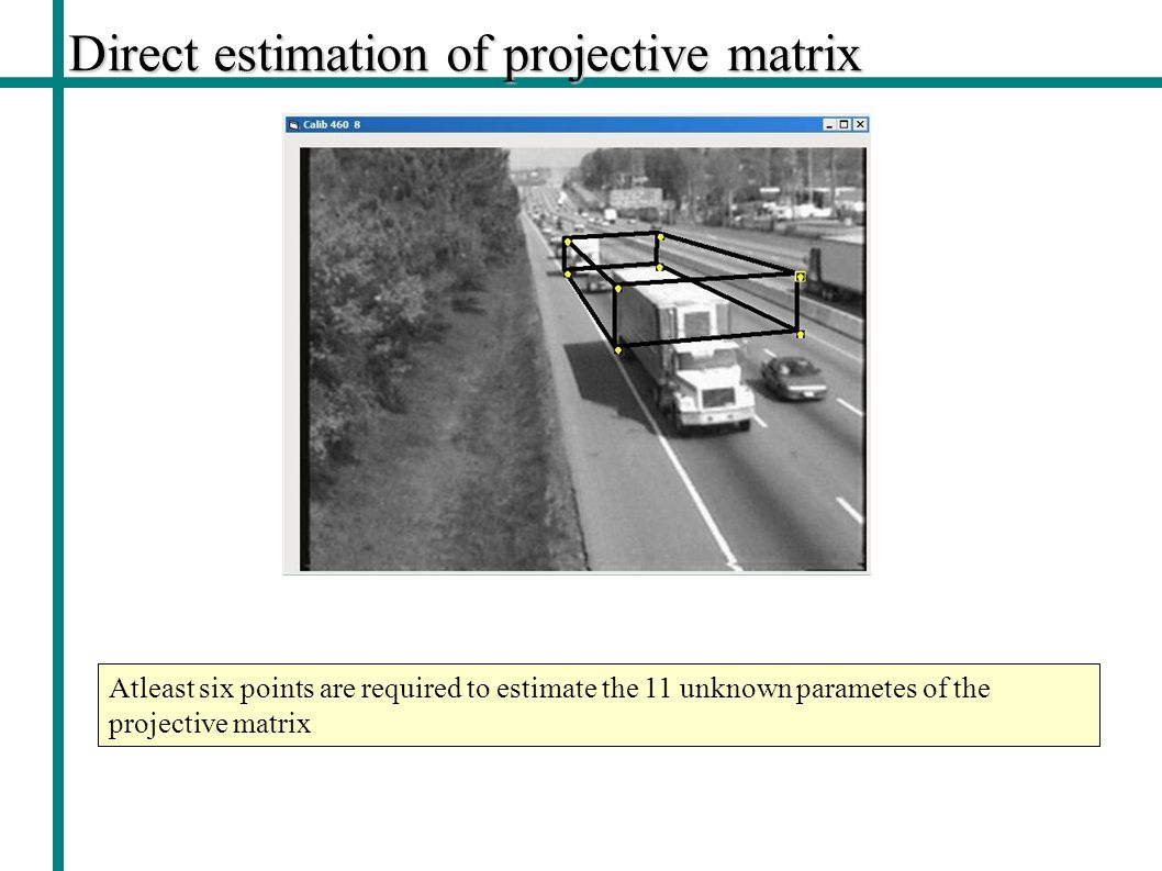 Direct estimation of projective matrix
