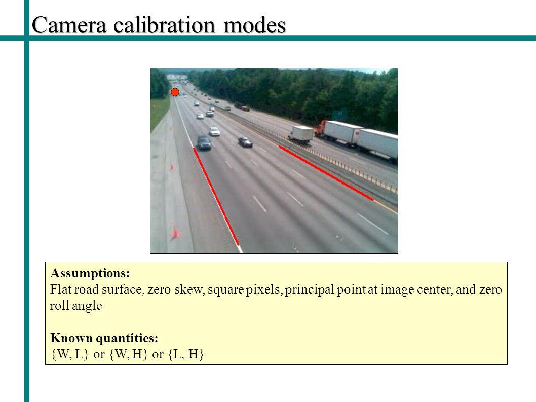Camera calibration modes