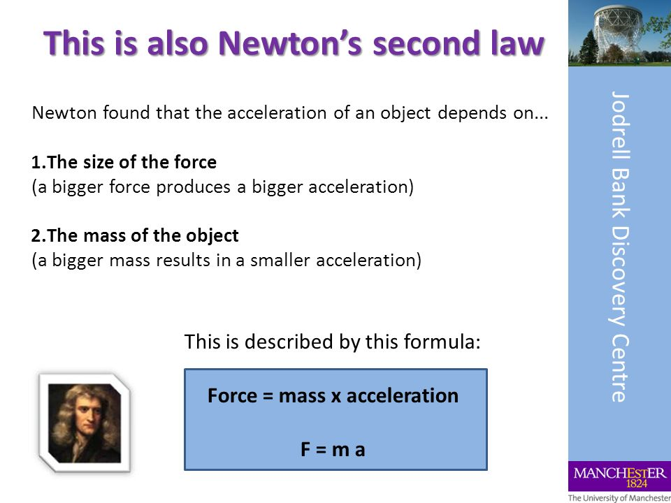 This is also Newton's second law