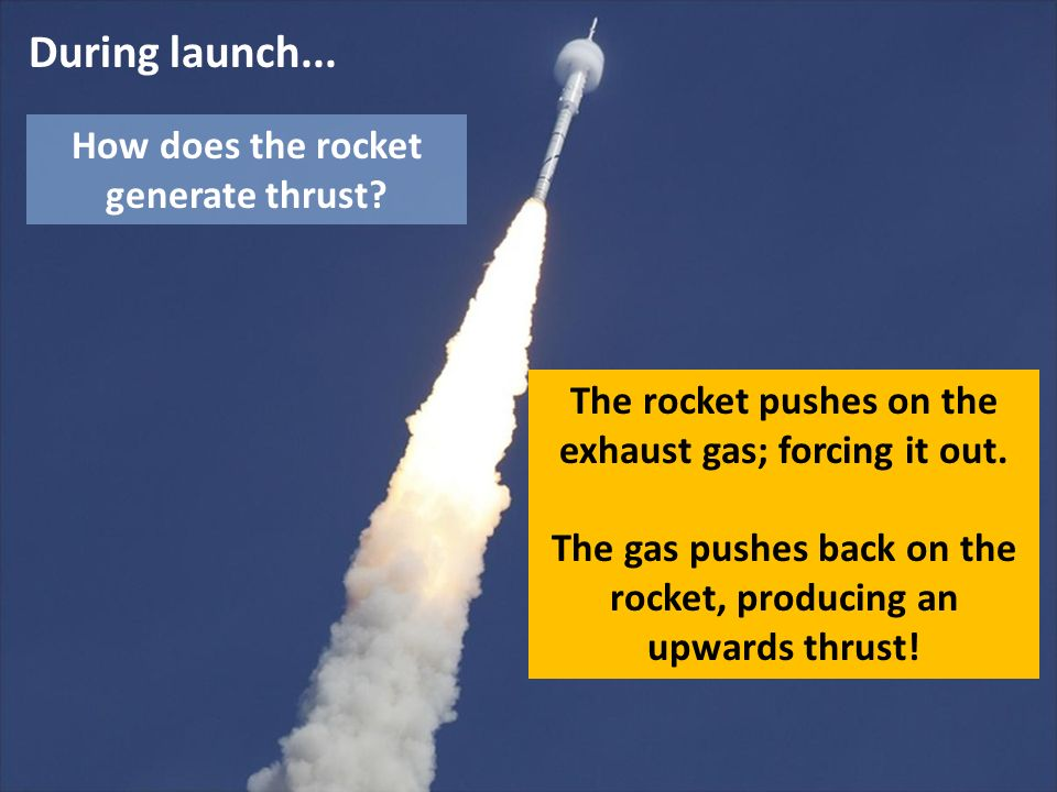 During launch... How does the rocket generate thrust