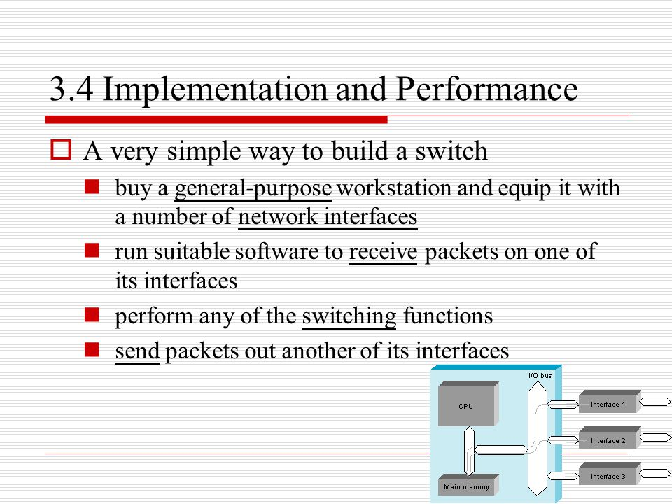 3.4 Implementation and Performance