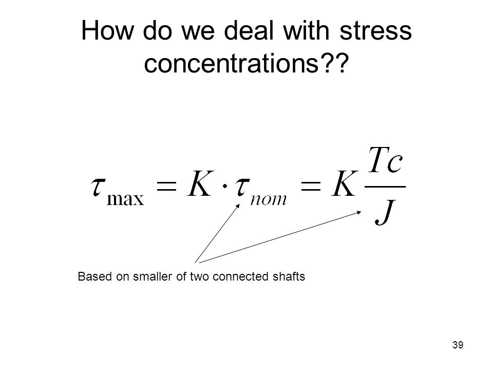 How do we deal with stress concentrations