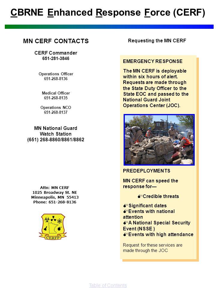 CBRNE Enhanced Response Force (CERF)