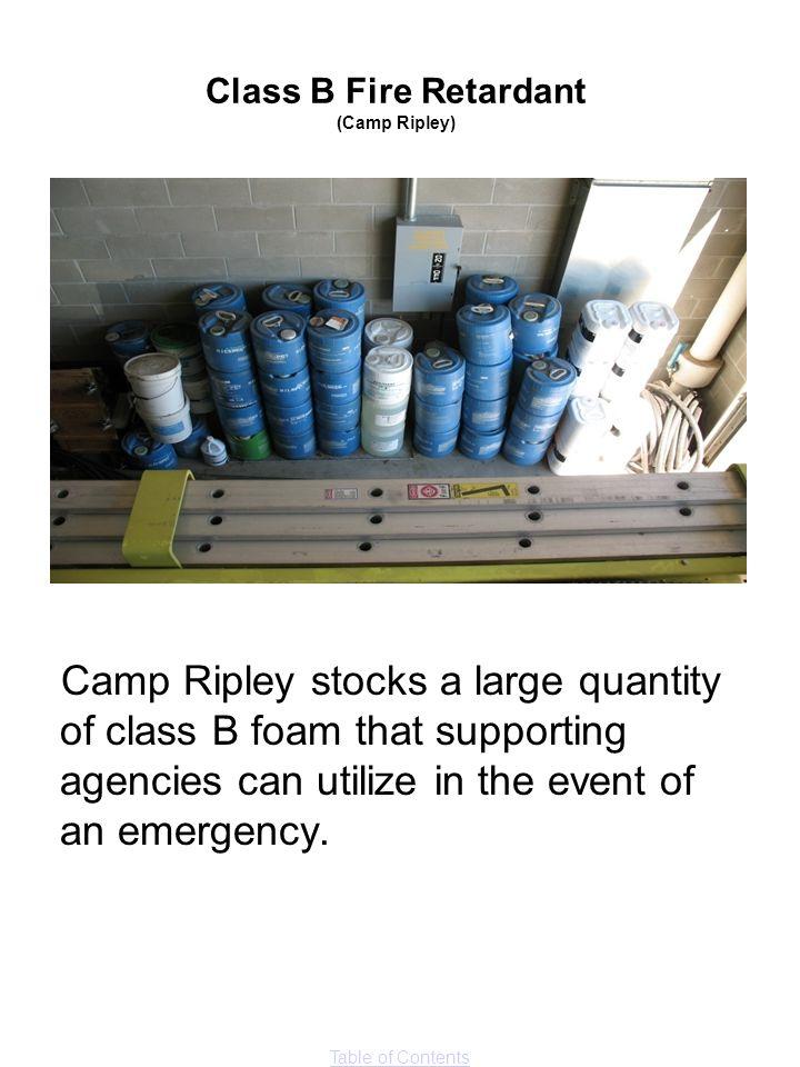 Class B Fire Retardant (Camp Ripley)