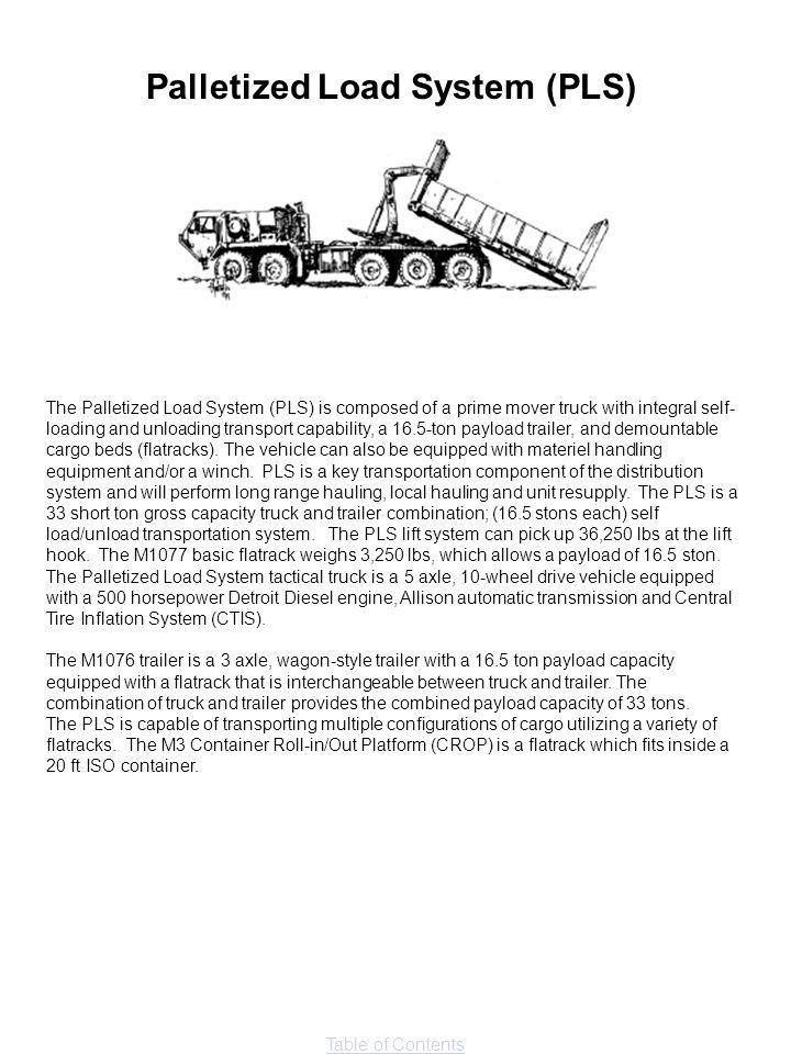 Palletized Load System (PLS)