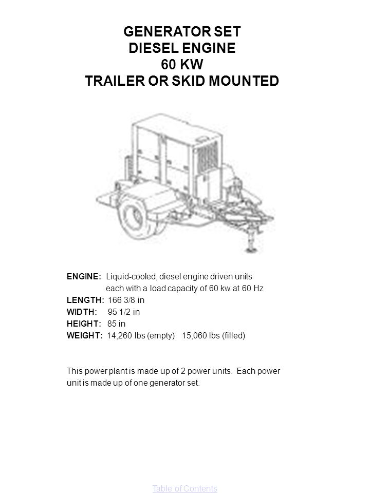 TRAILER OR SKID MOUNTED