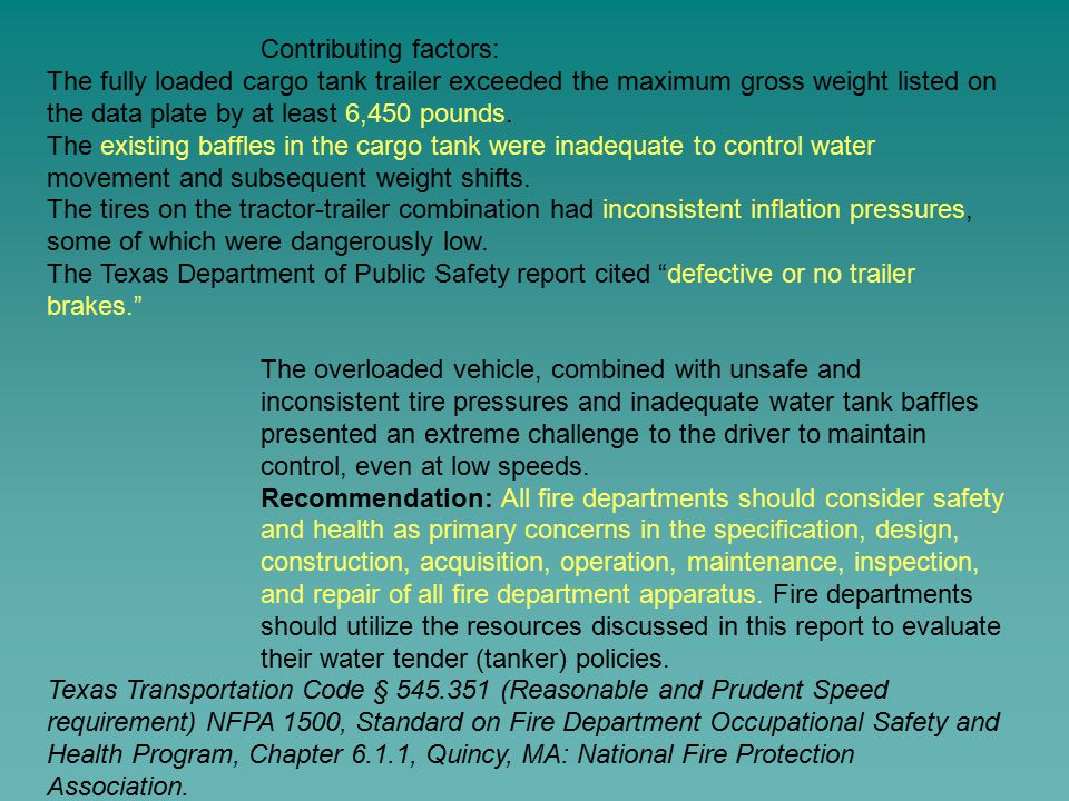 Contributing factors: