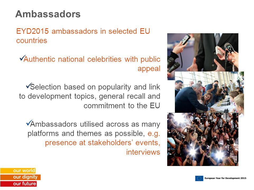 Ambassadors EYD2015 ambassadors in selected EU countries