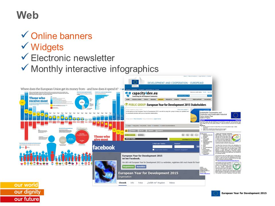 Web Online banners Widgets Electronic newsletter