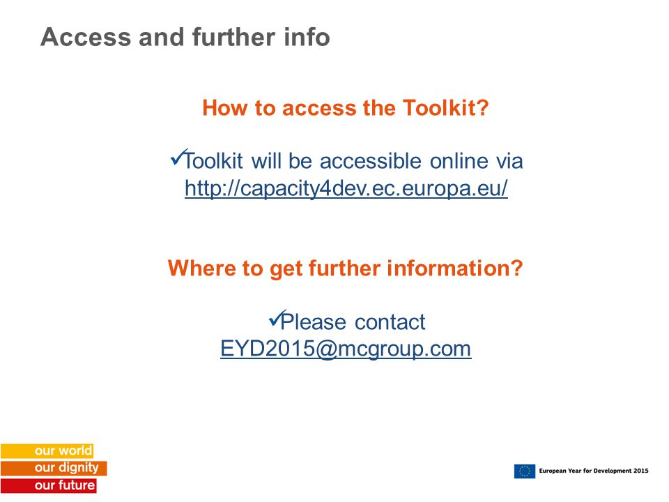 Access and further info