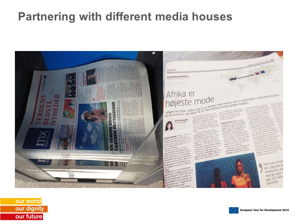 Partnering with different media houses