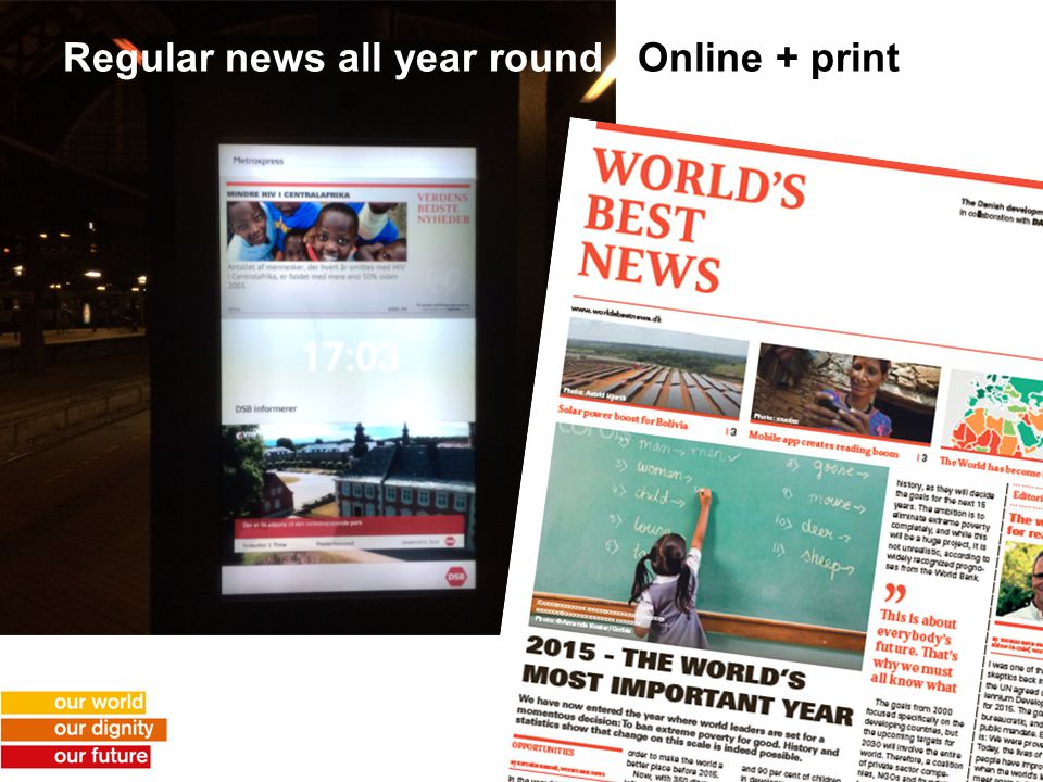 Regular news all year round Online + print
