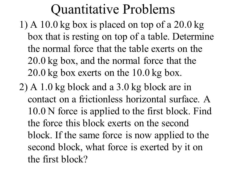 Quantitative Problems