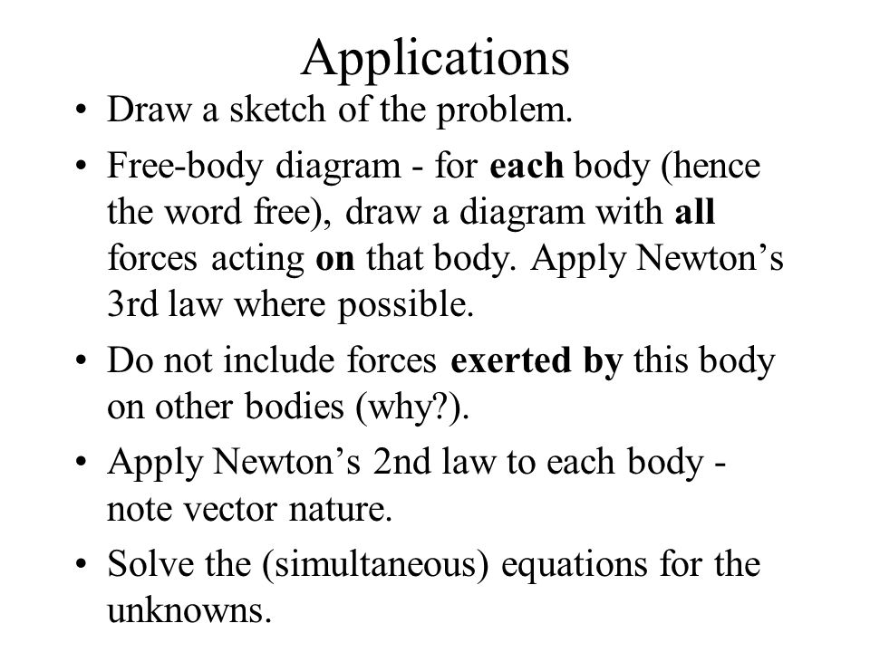 Applications Draw a sketch of the problem.