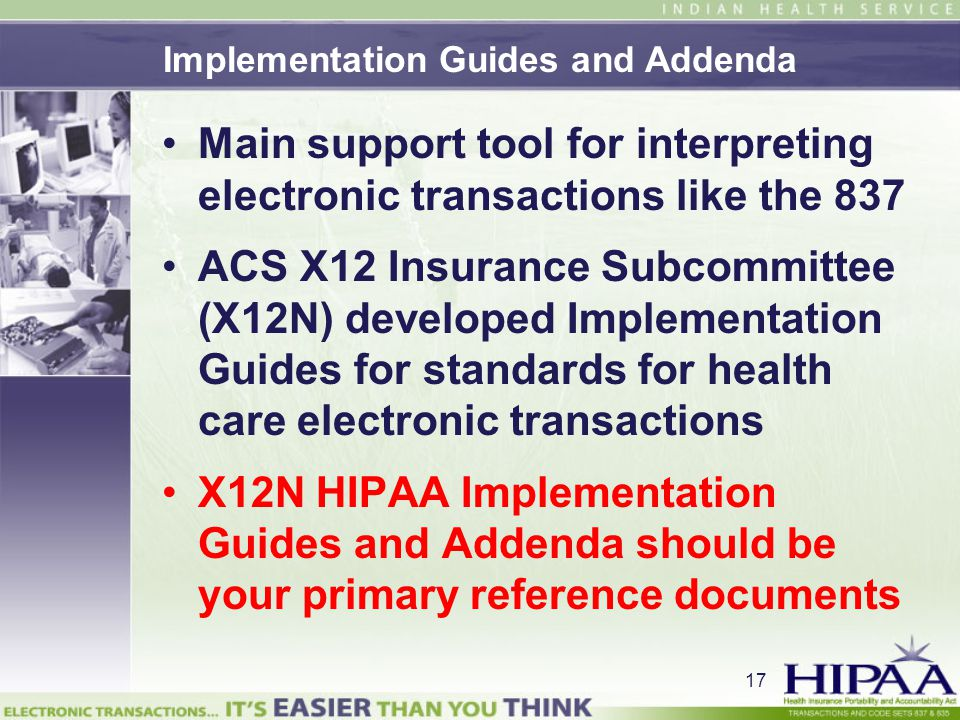 Implementation Guides and Addenda