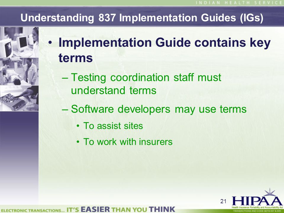 Understanding 837 Implementation Guides (IGs)