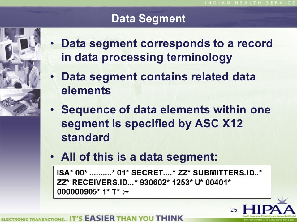 Data segment corresponds to a record in data processing terminology