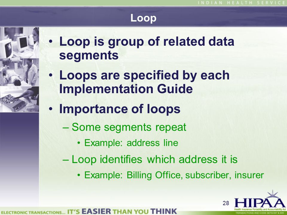 Loop is group of related data segments