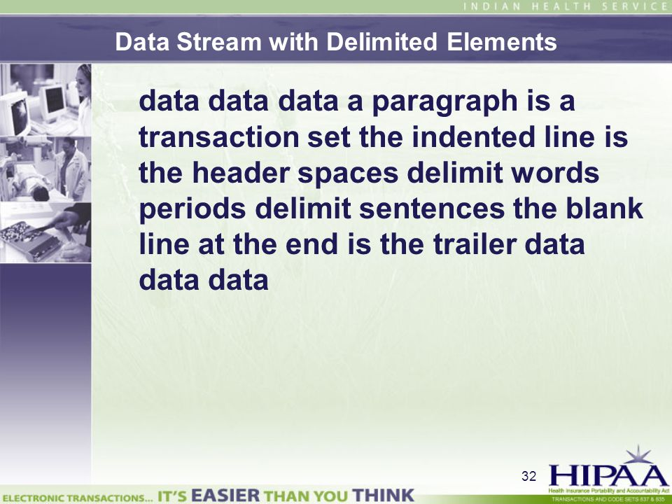 Data Stream with Delimited Elements