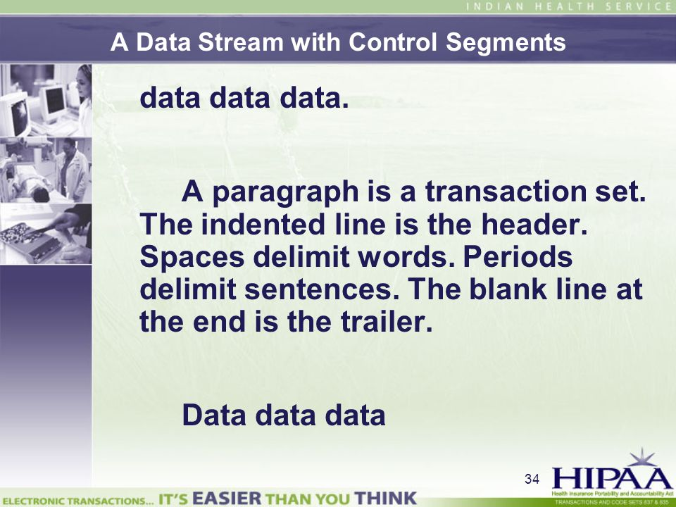 A Data Stream with Control Segments