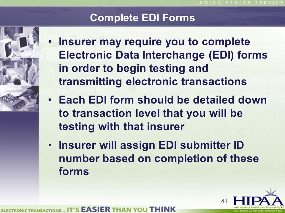 Complete EDI Forms