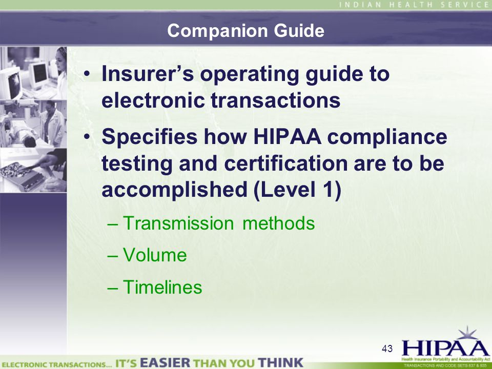 Insurer's operating guide to electronic transactions