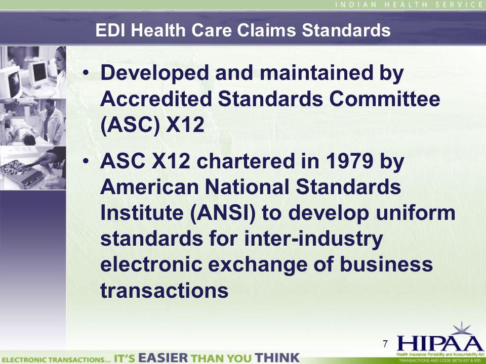 EDI Health Care Claims Standards