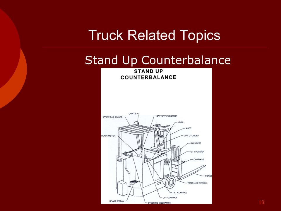 Truck Related Topics Stand Up Counterbalance