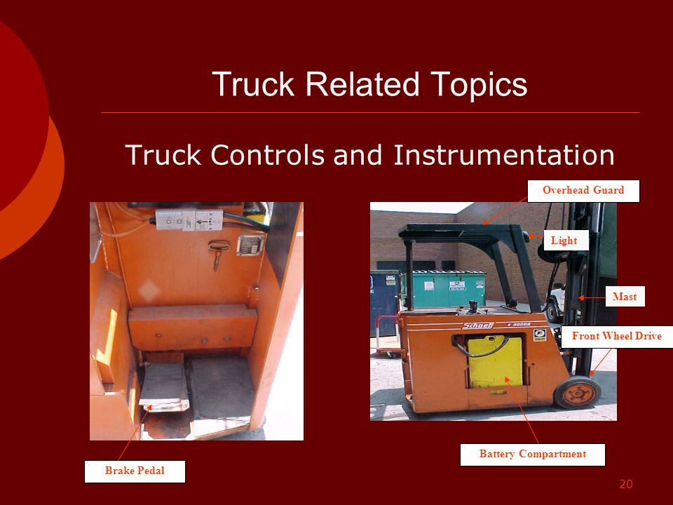 Truck Controls and Instrumentation