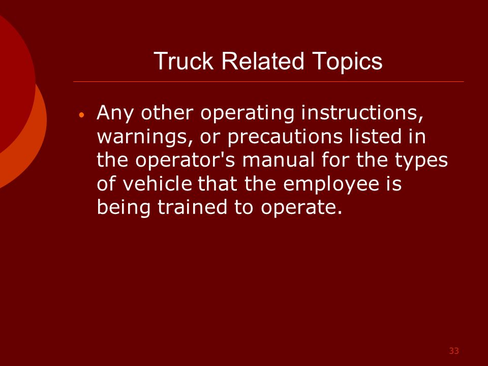 Truck Related Topics