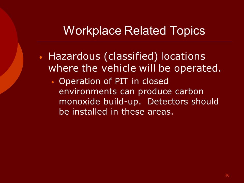 Workplace Related Topics