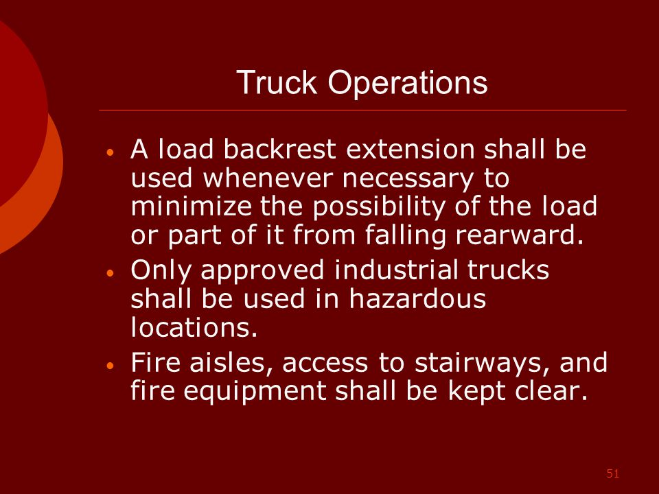 Truck Operations