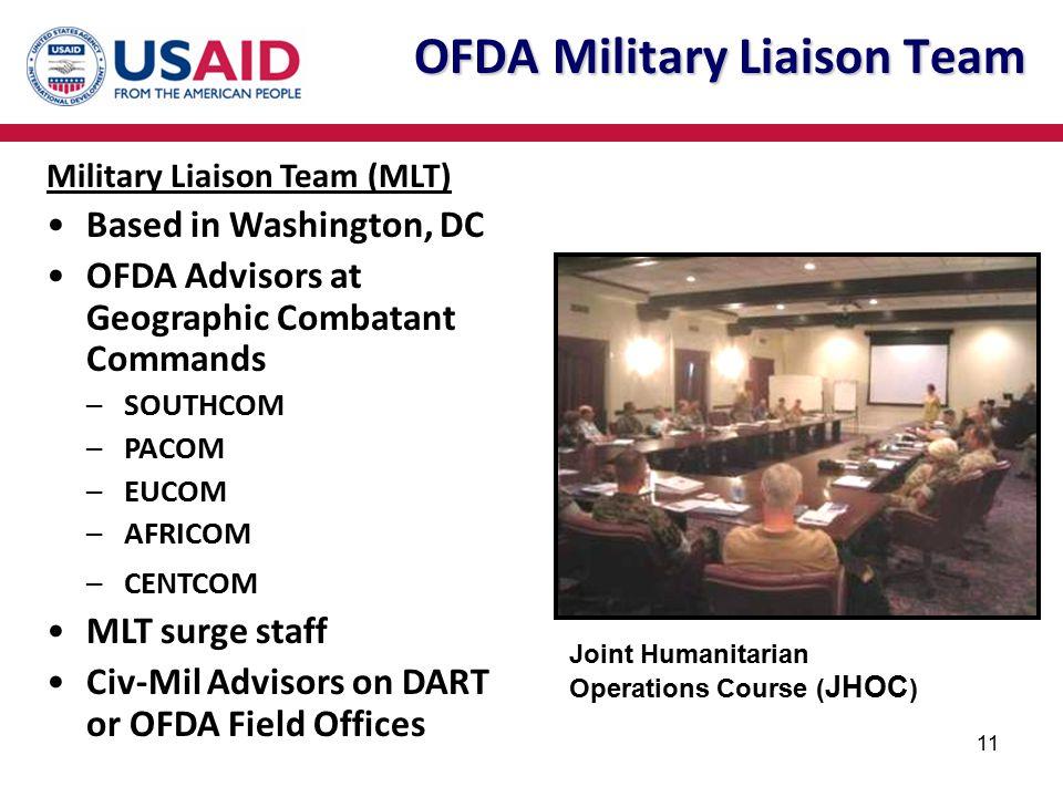 OFDA Military Liaison Team