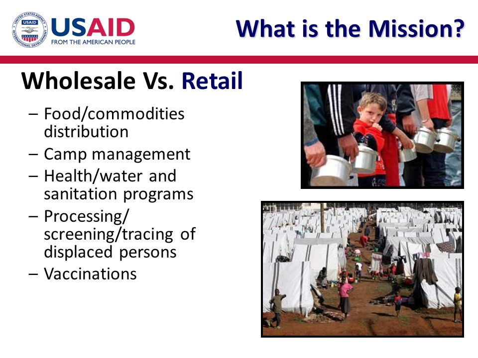 What is the Mission Wholesale Vs. Retail